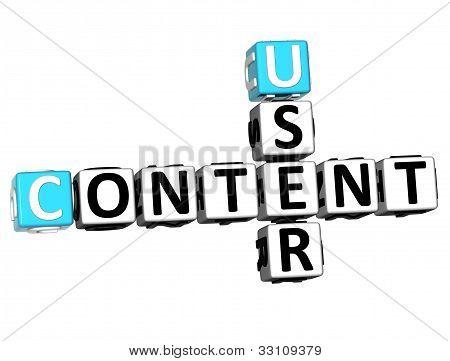 3D User Content Crossword