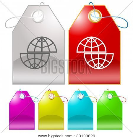 Shift globe. Raster tags. Vector version is in my portfolio.