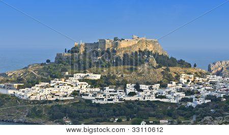 Lindos village at Rhodes island