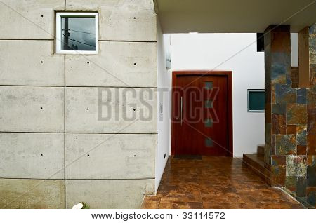 Modern entrance door house
