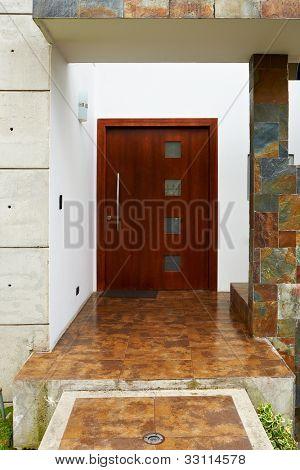 Modern entrance door house