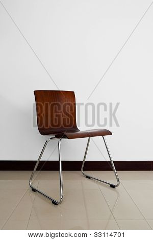 Vintage chair in empty room