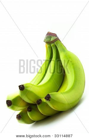 Bunch Of Yellow-green Bananas