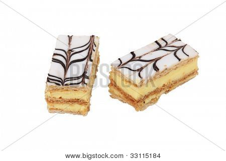 Two mille-feuille pastries