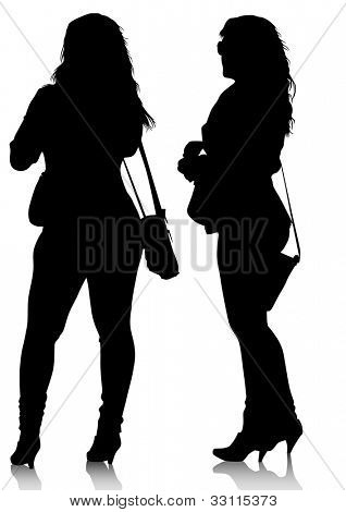 image of young women with shopping bags