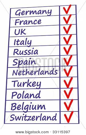 european country list