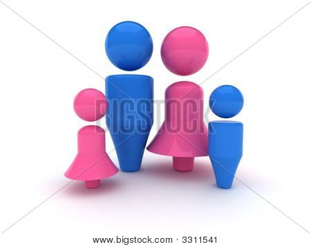 3D Web Icon - Family