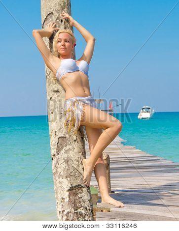 Gorgeous Woman Exotic Hideaway