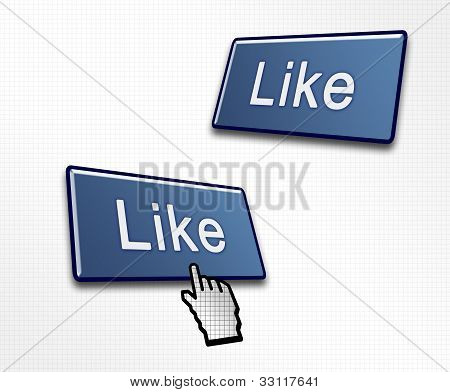 Two Social Media Like Buttons