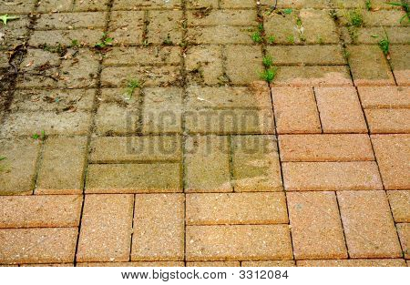 Before And After Power-Washing