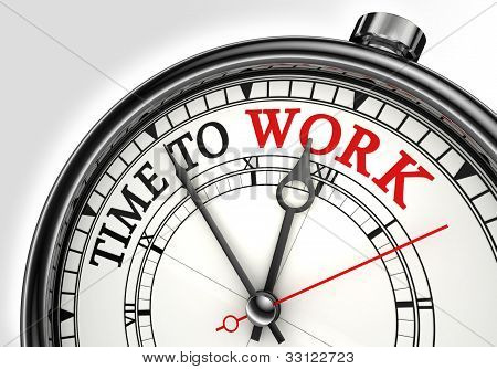 Time To Work Concept Clock