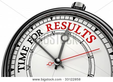 Time For Results Concept Clock