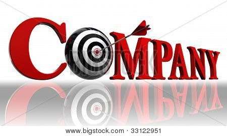 Company Red Word And Conceptual Target