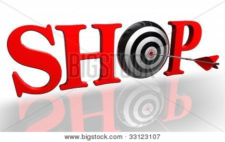 Shop Red Word With Concept Target