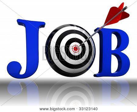 Job Blue Word And Conceptual Target