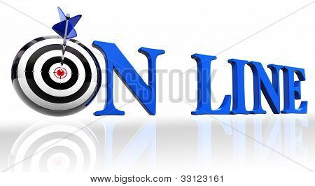 Online Blue Word And Conceptual Target