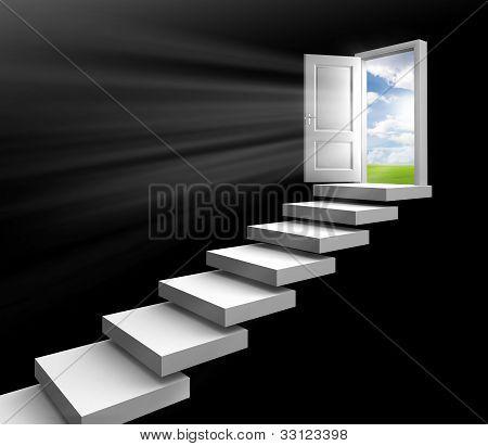 Day Light In Room Through Door