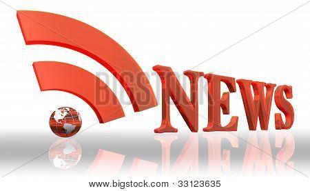 Noticias RSS Logo palabra