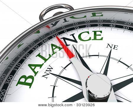 Balance Kompass Conceptual Image
