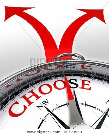 Choose Cross Roads Concept Compass