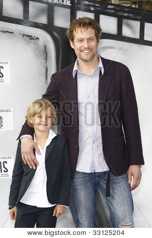LOS ANGELES - SEPT 25: James Tupper; Homer Laffoon at the IRIS, A Journey Through the World of Cinema by Cirque du Soleil premiere at the Kodak Theater on September 25, 2011 in Los Angeles, California