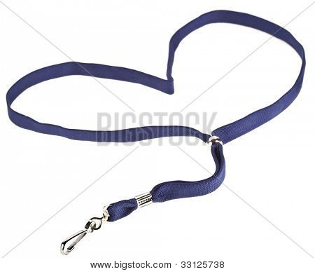 Lanyard Heart For Badge Tag  isolated on white background