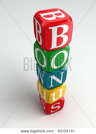 Bonus 3D Colorful Buzzword