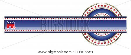 Political Label Republican Banner