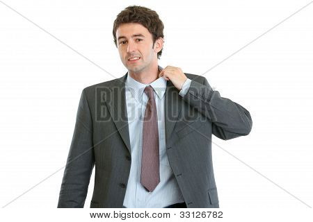 Portrait Of Nervous Modern Businessman