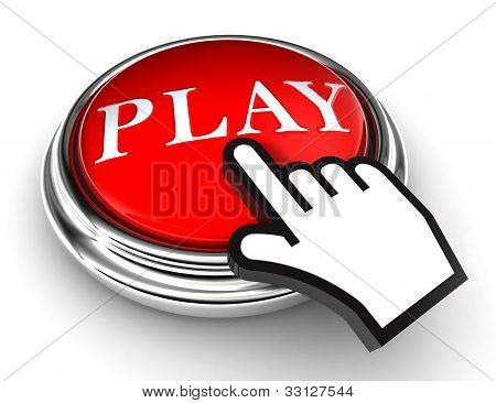 Play Red Button And Pointer Hand