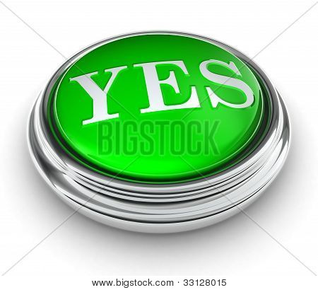 Yes Word On Green Button