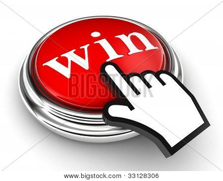 Win Red Button And Pointer Hand