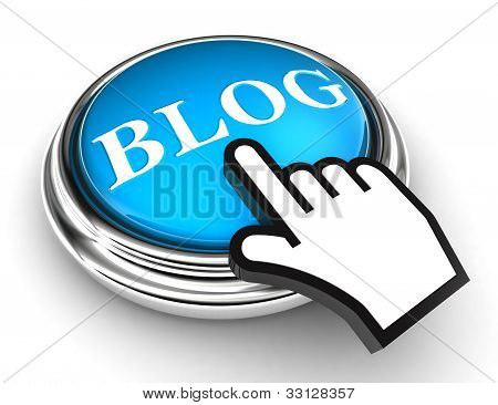 Blog Blue Button And Pointer Hand