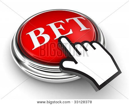 Bet Red Button And Pointer Hand