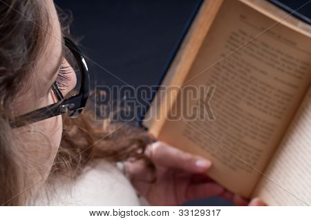 Sweet Girl Reading A Book