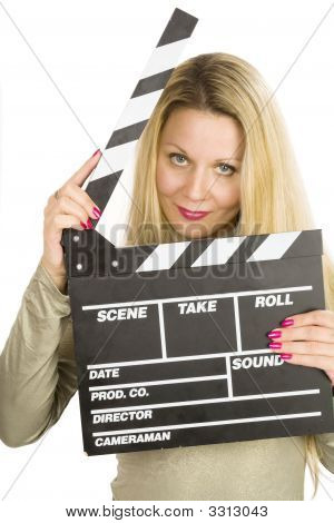Blond With Clapperboard
