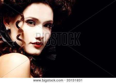 woman beautiful halloween vampire baroque aristocrat