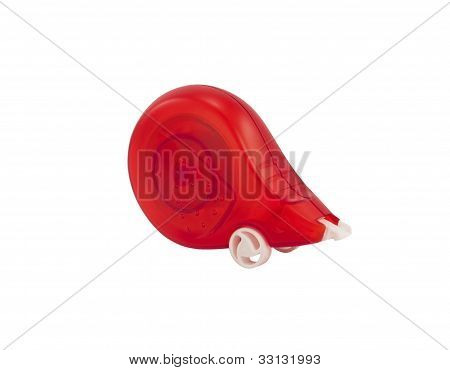 Red corrector on a white background
