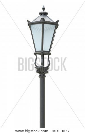 Street Lamp On The White Background