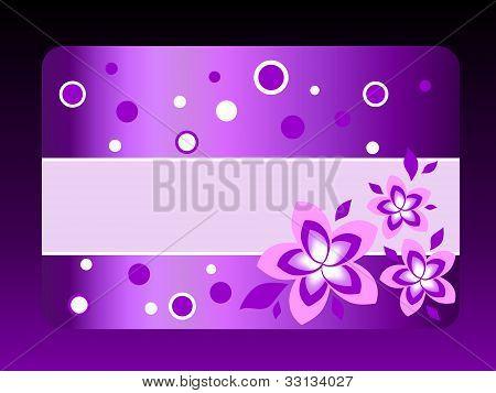 violet gift card