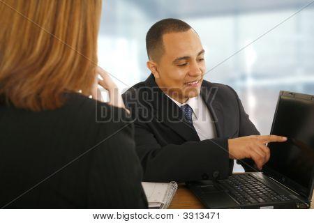 Showing Laptop