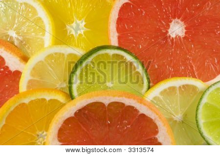 Fresh Platter Of Citrus Fruit