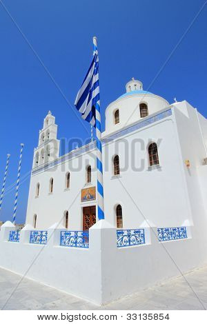 Church Of Panagia Of Platsani, Oia, Santorini Greece