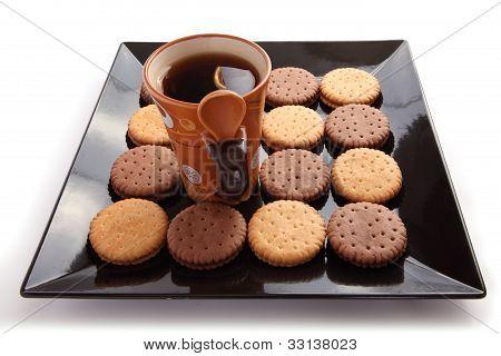 Té con galletas desayuno