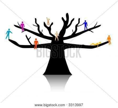 People In Treetop