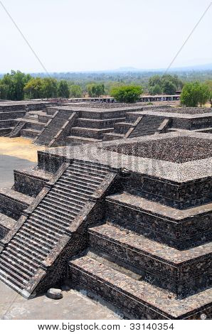 Platforms Along The Avenue Of The Death, Teotihuacan City, Mexico