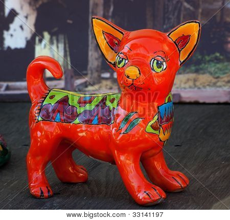 Mexican Colorful Souvenir Ceramic Chihuahua Dog San Diego Calfornia