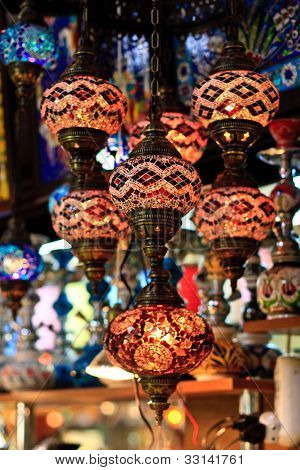 Istanbul Grand Bazaar - Mosaic Turkish Lanterns