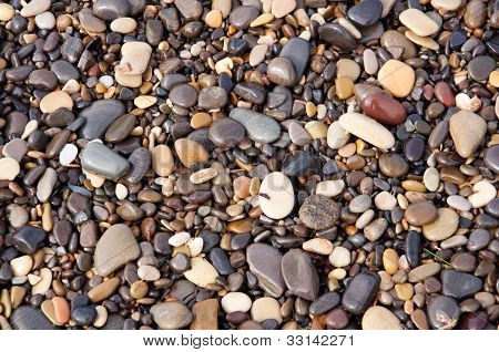 Pebbles And Stones, Wet, Texture, Background