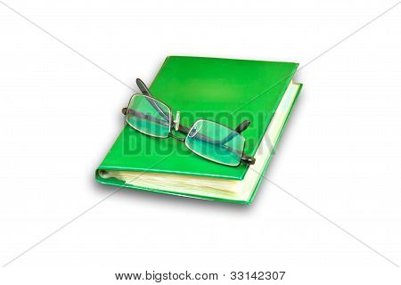 Glasses And Name Card Book